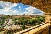 The view of Rome from the Castel Sant Angelo — Stock Photo