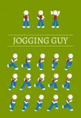 Jogging  Guy — Stock Vector