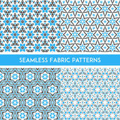 Fabric Patterns — Stock Vector