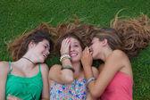 Healthy summer teens outdoors — Stock Photo