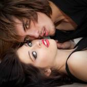 Passion, passionate fashion couple — Stock Photo