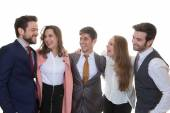 Group of friendly business people — Stock Photo