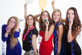 Girls night out partying — Stock Photo