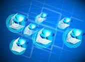 Poskytovatel služeb cloud — Stock vektor