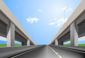 Superhighway — Stock Vector