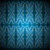 Art pattern blue color Bayon style — Wektor stockowy