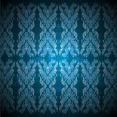 Art pattern blue color Bayon style — Vector de stock