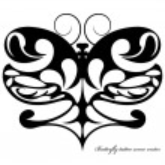 Butterfly tattoo scene — Stock Vector #70623435