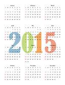 Classical calendar on a light background. — Vecteur