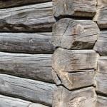 Angle old log home, close up — Stock Photo #58967397