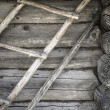 Angle old log home, close up — Stock Photo #62144527