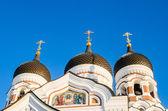 Tallinn Alexander Nevsky katedralde kubbeleri. — Stok fotoğraf