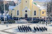 TALLINN, ESTONIA - FEBRUARY 24, 2013: Celebrating of Day of Inde — Stock Photo