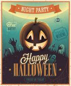 Happy Halloween Poster. — Stockvektor