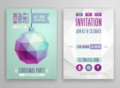 Christmas flyer - geometric stile. — Wektor stockowy