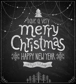 Christmas poster - Chalkboard style. — Stock Vector