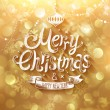 Christmas card with golden background. Vector illustration. — Stock Vector #59051175