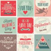 Valentines day card set. — Stock Vector