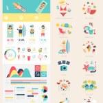 Beach Infographic set — Stock Vector #70294947