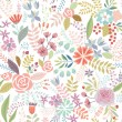Seamless Floral colorful hand drawn pattern. Vector illustration. — Stock Vector #74461027