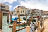 Uitzicht op het canal Grande in Venetië, Italië — Stockfoto