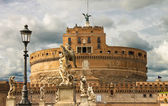 Statues on the bridge of Castel Sant'Angelo in Rome, Italy  — Stock Photo