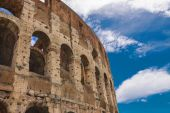 Ruins of the Colosseum in Rome, Italy — Stock Photo