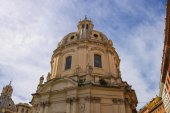 Dome of the church Holy Name of Mary in Rome, Italy — 图库照片