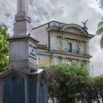 Obelisk  Dogali ( Obelisco di Dogali ) in park on street  Via de — Stock Photo #55410835