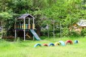 Playground near the country house — Foto de Stock