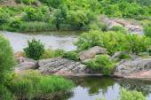 The rapids on a small river in Ukraine — Stock Photo