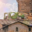 Picturesque Italian house with flowers on the terrace — Stock Photo #60035315
