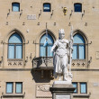 Statue of Liberty near the Palazzo Pubblicco in San Marino. The — Stock Photo #60035789