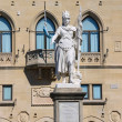 Statue of Liberty near the Palazzo Pubblicco in San Marino. The — Stock Photo #60035863