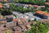 View of the village from the fortress of San Marino. The Republi — Stock Photo
