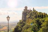 Fortress of San Marino on a sunny day — Stock Photo