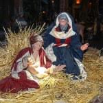 Christmas scene, Jesus Christ, Mary and Josef — Stock Photo #63447891