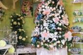 """Great Cristmas market """"Villaggio di Babbo Natale"""" in the garden — Stock Photo"""