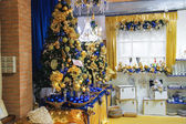 素晴らしいクリスマス市場庭「ヴィラッジオ ・ ディ ・ バッボ ナターレ」 — ストック写真