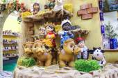 """Cristmas grande mercato """"Villaggio di Babbo Natale"""" in giardino — Foto Stock"""