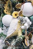 """Большой рождественский рынок """"villaggio di babbo natale"""" в саду — Стоковое фото"""