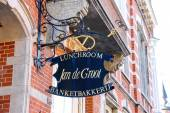"Signboard candy store ""Jan de Groot"" in the Dutch city of Den Bo — Stock Photo"