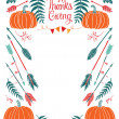 Happy Thanksgiving design card for menu or invitation — Stock Vector #52859305