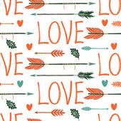 Love background with arrows — Stock Vector