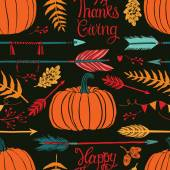 Happy ThanksGiving dark background — Stock Vector