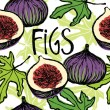 Figs seamless pattern — Stock Vector #54821017