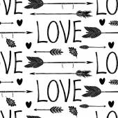 Love background with black arrows — Stock Vector