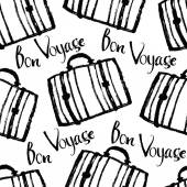 Bon Voyage Background with suitcases — Stock vektor