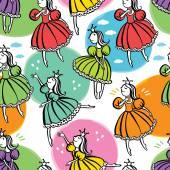 Little princess background — Stock Vector
