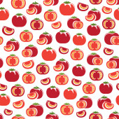 Seamless pattern with Tomatoes — Stockvektor